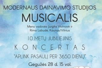 """MODERNAUS DAINAVIMO STUDIJOS """"MUSICALIS"""" KONCERTAS"""