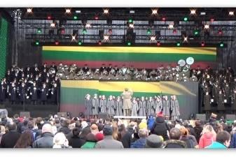 Baltijos šalių kariuomenių orkestrai trankiais maršais sveikino Lietuvą