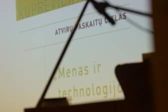 Atviroje Giedriaus Kuprevičiaus paskaitoje – apie elektroninės muzikos spindesį ir skurdą