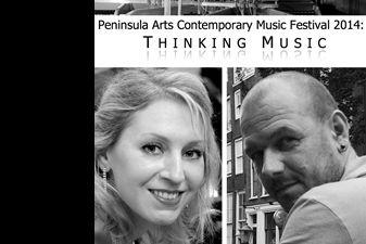 Kompozitorius Linas Baltas ir pianistė Lauryna Šablevičiūtė – šiuolaikinės muzikos festivalyje Plimute