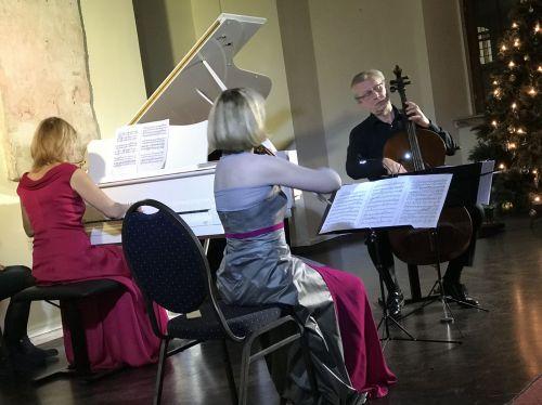 """Piano trio """"Kaskados"""" at """"White piano hall"""""""