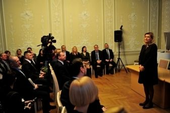 Kultūros ministrė Liana Ruokytė-Jonsson pradeda darbą