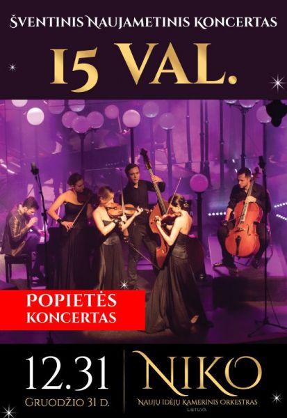 Šventinis naujametinis popietės koncertas NIKO
