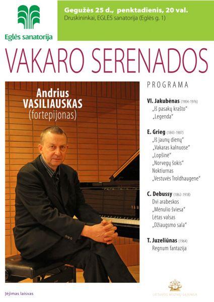 VAKARO SERENADOS. Andrius Vasiliauskas (fortepijonas)