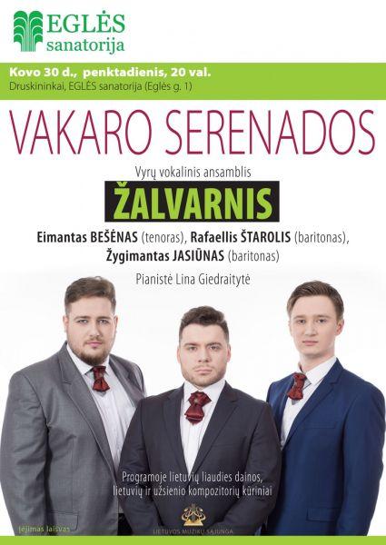 """VAKARO SERENADOS. Vyrų vokalinis ansamblis """"Žalvarnis"""""""